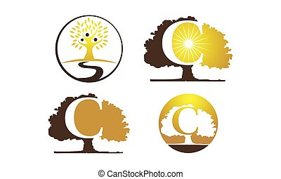 Oak Tree Template Set