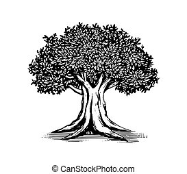 Oak Tree Vector Logo Illustration