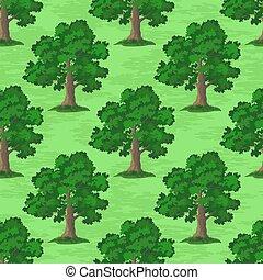 Oak Trees Seamless