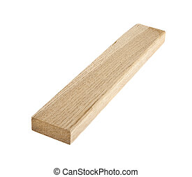 oak wooden beam isolated on white background