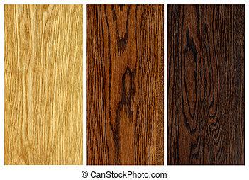 oak woodgrain samples