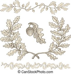 Oak wreath and dividers