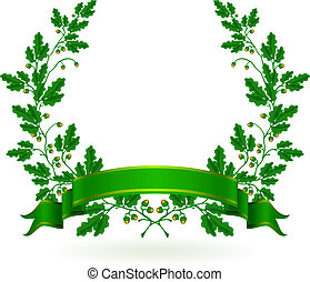 Oak Wreath, vector