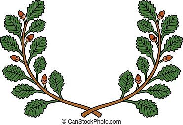 oak wreath vector illustration