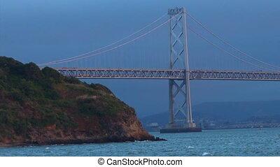 Oakland Bay Bridge San Francisco, California.It has one of...