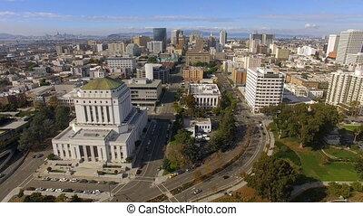 Oakland California Downtown City Skyline Lake Merritt San...