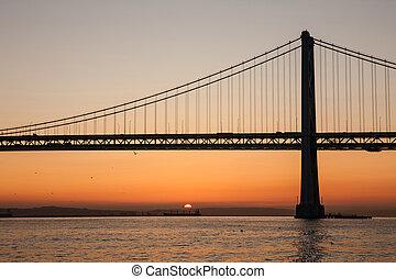 oakland csaholás bridzs, san francisco, kalifornia