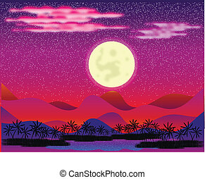 oasi, disertare notte