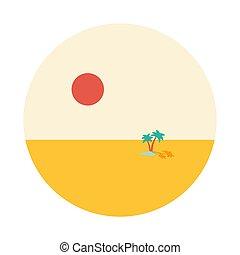 Oasis lake in desert