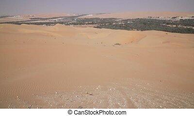 Oasis Liwa in Rub al Khali desert United Arab Emirates stock...