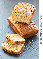 oat bran bread  with coriander