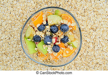oat cereal with fruit