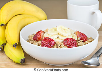 oat flakes and fruit