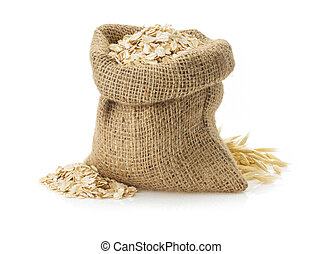 oat flake isolated on white background