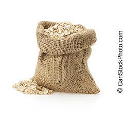 oat flake on white  - oat flake isolated on white background
