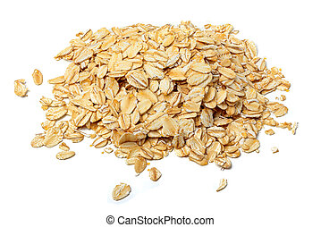 Oat flakes close-up isolated. - Oat flakes close-up isolated...