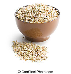 oat flakes in bowl