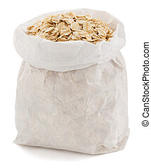 oat flakes in paper bag