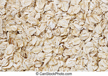 oat flakes - Texture of the white oat flakes. May use as...