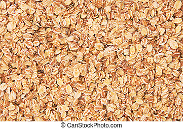 Texture of the yellow and white oat flakes
