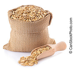oat grains in bag
