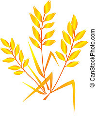 A Vector Image of oat isolated