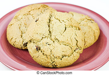 Oat meal raisan cookies - Freshly baked oatmeal raisin ...