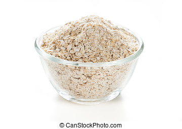 oat on white isolated background