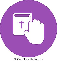Oath, pledge, honesty icon vector image. Can also be used for law and order. Suitable for mobile apps, web apps and print media.
