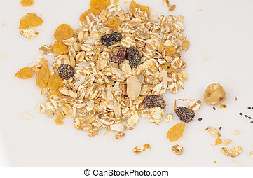 Oatmeal and raisins