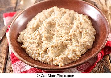 oatmeal, bowl of porridge