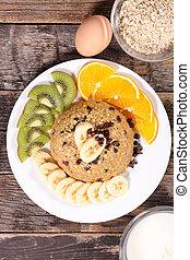 oatmeal breakfast with fruit