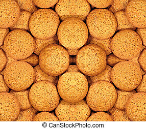 Oatmeal cookies background