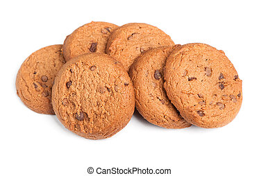 Oatmeal cookies with chocolate