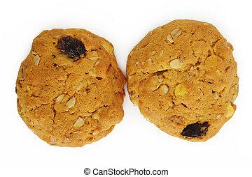 Oatmeal cookies with raisin