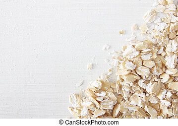 Oatmeal flakes close up