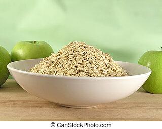 oatmeal in bowl - OLYMPUS DIGITAL CAMERA          oatmeal