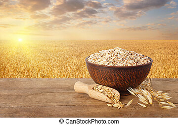 oatmeal in bowl on table