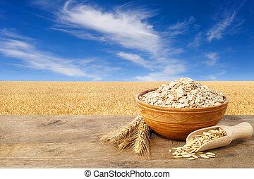 oatmeal in ceramic bowl