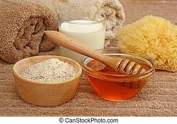 Oatmeal, milk and honey spa