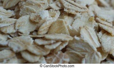 Oatmeal. Oat flakes. Close-up. - Oatmeal. Oat flakes...