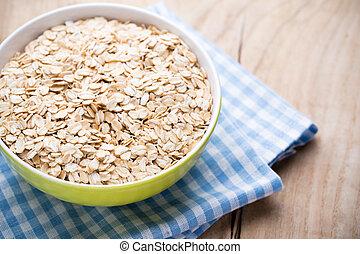 Oatmeal porridge, healthy breakfast.