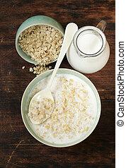 oatmeal porridge with milk