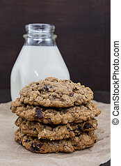 Oatmeal Raisin Cookies in Stack