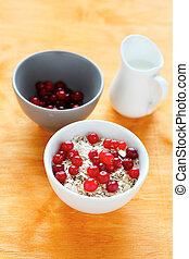 oatmeal with berries in a bowl