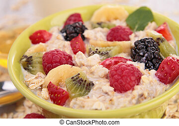 oatmeal with fruits