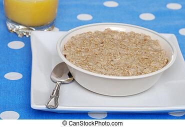 oatmeal with orange juice