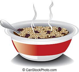 Oatmeal with raisins