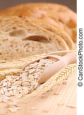 Oats and fresh bread