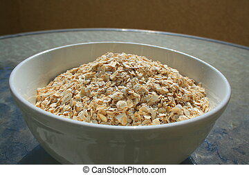 Oats in a Bowl - Close up of oats in a bowl.